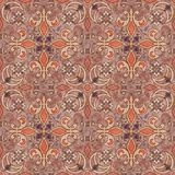 Seamless  grunge ornamental pattern on beige background Royalty Free Stock Image
