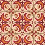 Seamless  grunge ornamental pattern on beige background Stock Photo
