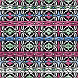 Seamless grunge ornamental pattern on bright background Royalty Free Stock Images