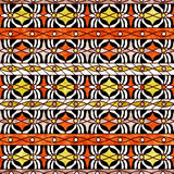Seamless  grunge ornamental pattern on bright background Stock Images