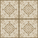 Seamless  grunge ornamental pattern on light beige background Royalty Free Stock Images