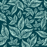 Seamless grunge pattern with leafs Royalty Free Stock Photography