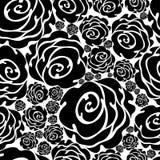 Seamless Grunge Rose Pattern Royalty Free Stock Photography
