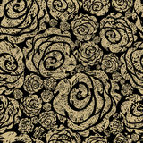 Seamless grunge rose pattern Stock Photos
