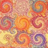 Seamless grunge swirled colorful pattern Royalty Free Stock Photo