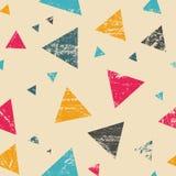 Seamless grunge triangle pattern Royalty Free Stock Photo