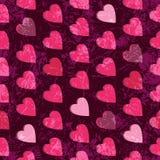 Seamless grunge valentine pattern Royalty Free Stock Image