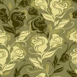 Seamless grunge vintage flower rose pattern stock illustration