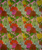 Seamless grunge vintage pattern with roses. Stock Photo