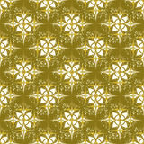 Seamless Grunge wallpaper in an old gold Royalty Free Stock Photo