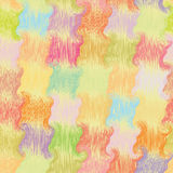 Seamless grunge wavy quilt colorful pattern Royalty Free Stock Images