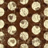 Seamless grungy brown pattern Stock Photo