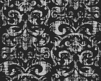 Seamless Grungy Wallpaper Pattern Stock Image