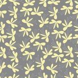 Seamless gul blommamodell Royaltyfri Foto