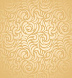 Seamless guldbröllopkortbakgrund Royaltyfria Bilder
