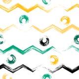 seamless gullig modell Krabba linjer, borste slår, cirklar och bläckar ner Ändlös textur kan användas för utskrift på tyg vektor illustrationer