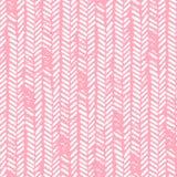 seamless gullig modell Rosa färg- och vitfärger Grunge textur Kn royaltyfri illustrationer