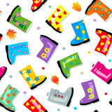 Seamless gumboots pattern Royalty Free Stock Photography