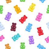 Seamless gummy bears candies background Royalty Free Stock Photography