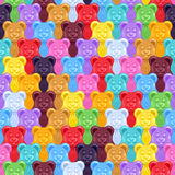 Seamless gummy bears candies background. Stock Photography
