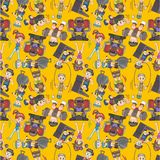 Seamless gym pattern Stock Photography