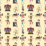 Seamless gym pattern Stock Images