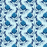 Seamless gzhel pattern Royalty Free Stock Photography