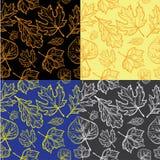 seamless höstbakgrundsleaf Royaltyfria Bilder