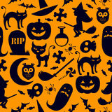 Seamless halloween background Royalty Free Stock Photos