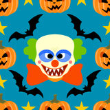 Seamless  halloween background with Clown Royalty Free Stock Image