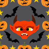 Seamless  halloween background with Devil Royalty Free Stock Photos