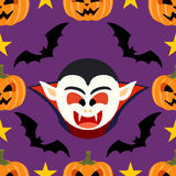 Seamless  halloween background with Dracula Royalty Free Stock Photos