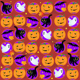 Seamless Halloween background. Seamless (easy to repeat) Halloween themed background (pattern, tile, swatch, wallpaper, print vector illustration