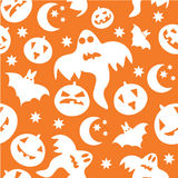 Seamless halloween background with ghosts Stock Photos
