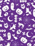 Seamless Halloween background. Made of various halloween related items Stock Photo
