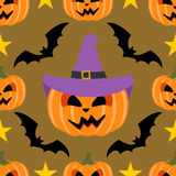 Seamless  halloween background with Pumpkin Royalty Free Stock Image