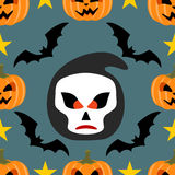 Seamless  halloween background with Scytheman Royalty Free Stock Photography