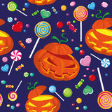 Seamless halloween candy Stock Photo