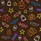 Seamless halloween  pattern. Seamless halloween icons  pattern Royalty Free Stock Images