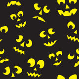 Seamless Halloween Lit Faces Stock Images