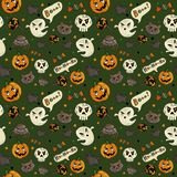 seamless halloween modell vektor illustrationer