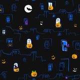 seamless halloween modell vektor illustrationer