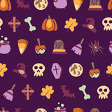 Seamless halloween pattern Royalty Free Stock Photos