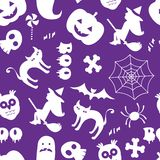Seamless Halloween pattern Royalty Free Stock Photo