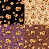 Seamless Halloween pattern background Royalty Free Stock Photos