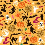 Seamless Halloween Pattern stock image