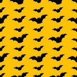Seamless halloween pattern with bats Stock Photo