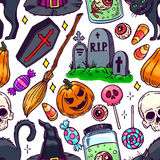 Seamless Halloween pattern - 2 Stock Image