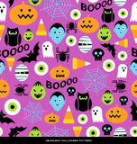 Seamless Halloween pattern Stock Photo