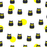 Seamless Halloween pattern. For Halloween day Royalty Free Stock Images